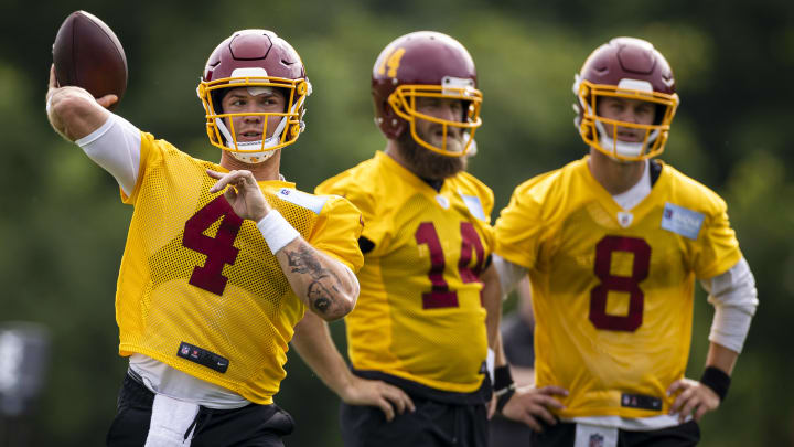Taylor Heinicke is giving Ryan Fitzpatrick some serious competition at starting quarterback for the Washington Football Team.