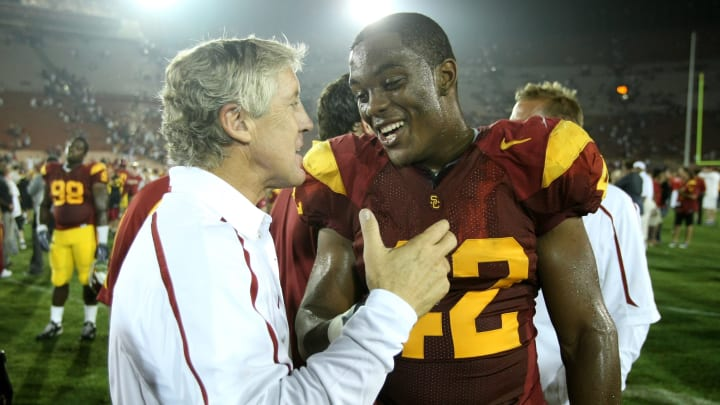 Former USC football head coach Pete Carroll.