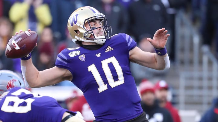 UW quarterback Jacob Eason has declared for the NFL Draft.