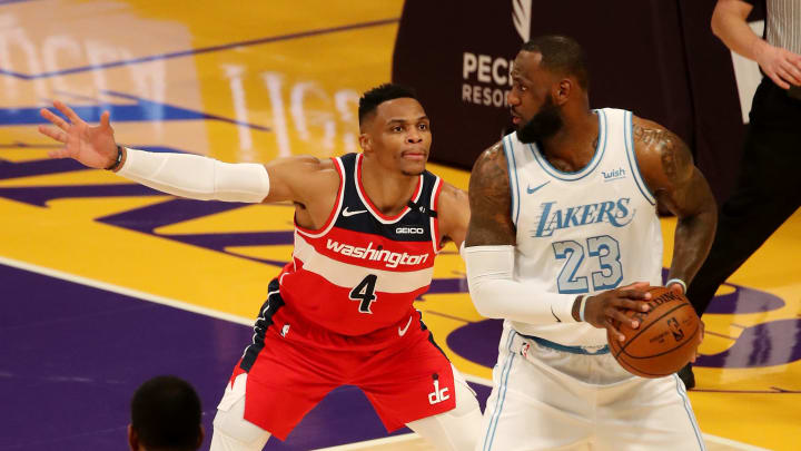 Russell Westbrook and LeBron James.