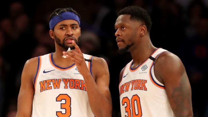 Julius Randle and Mo Harkless of the New York Knicks