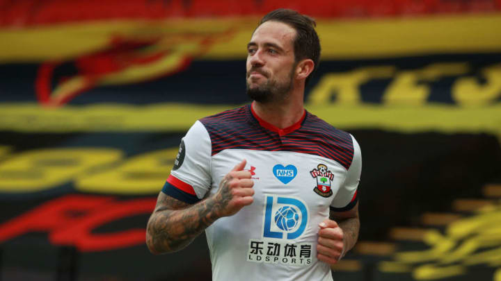 Danny Ings celebrates his second goal of the afternoon against Watford
