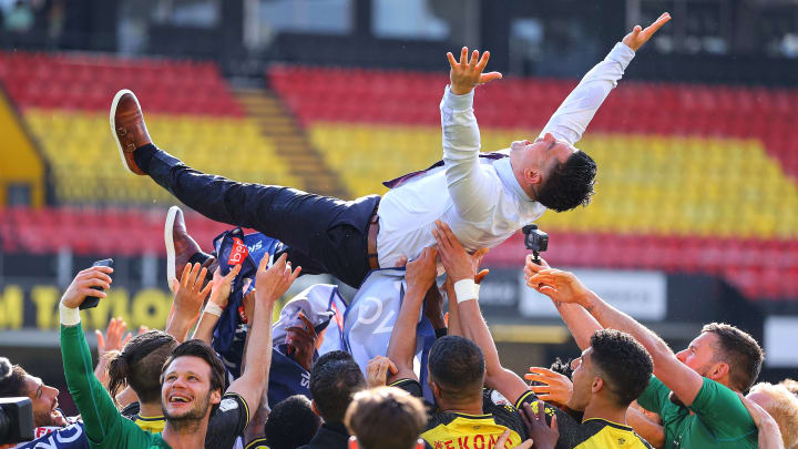 Watford achieved promotion back to the Premier League