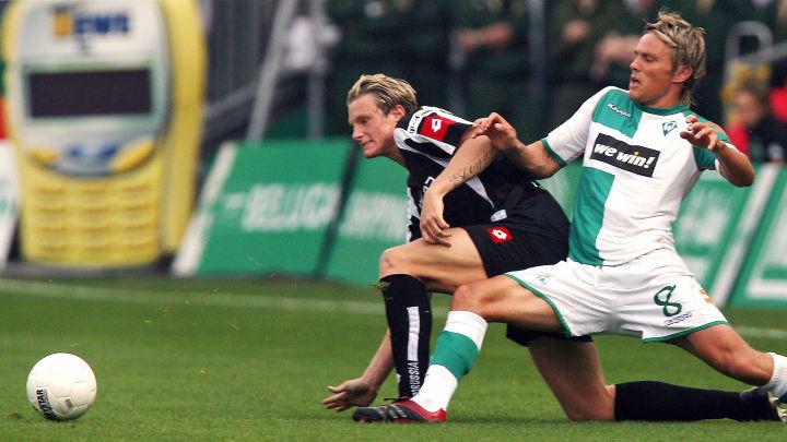 Werder Bremen's defender Clemens Fritz (