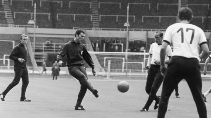 Franz Beckenbauer, Werner Krawmer, Willi Schulz, Wolfgang Paul