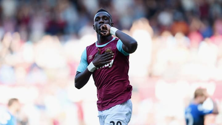 Modibo Maiga celebrating one of his four Premier League goals