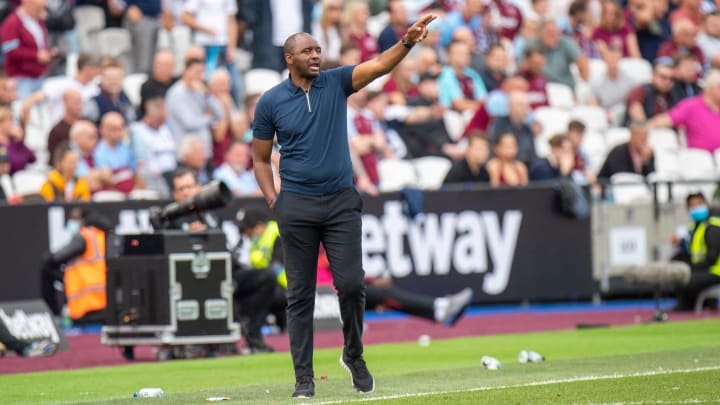 Patrick Vieira has claimed five points from his first four Premier League games as a manager