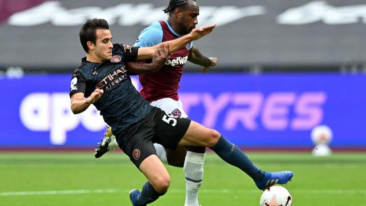 Eric García fue titular en el partido frente al West Ham