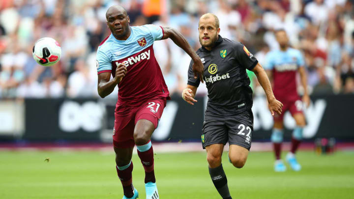 Relegation rivals Norwich and West Ham meet before the season concludes