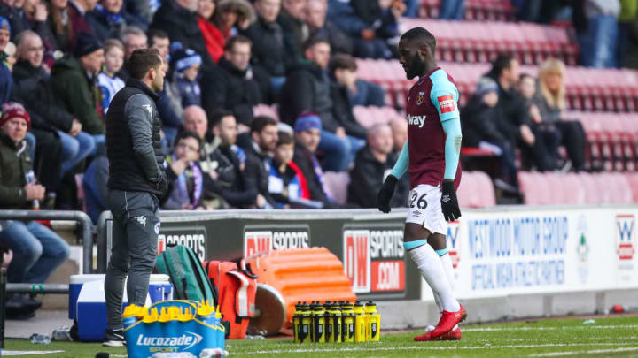Masuaku was sent off for spitting against Wigan in January 2018