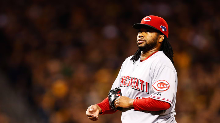 Former Cincinnati Reds pitcher Johnny Cueto got rattled during the 2013 NL Wild Card Game in Pittsburgh.