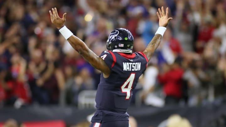 Deshaun Watson celebrating.