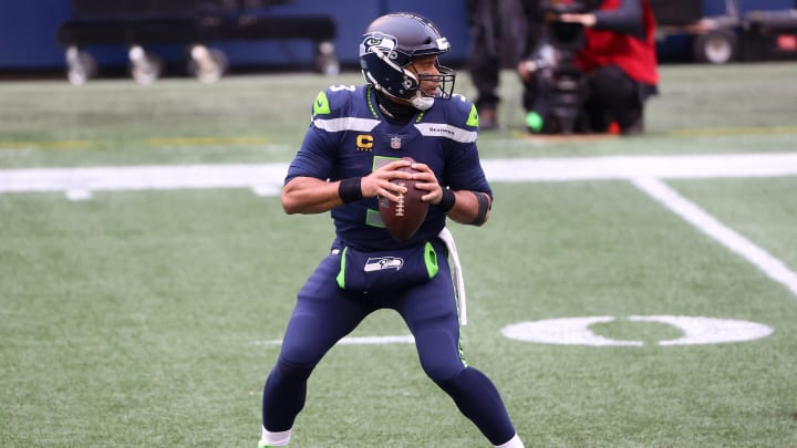 Russell Wilson, Wild Card Round - Los Angeles Rams v Seattle Seahawks
