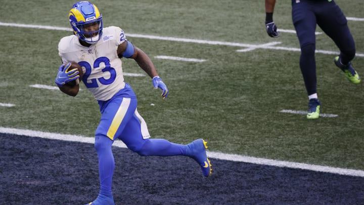 Cam Akers fue la gran figura en el juego de comodines entre Los Angeles Rams y Seattle Seahawks