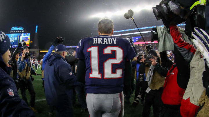 Tom Brady after the Patriots lost to the Titans.