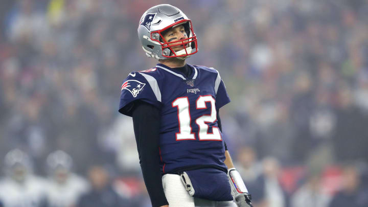 Tom Brady plays for the New England Patriots against the Tennessee Titans