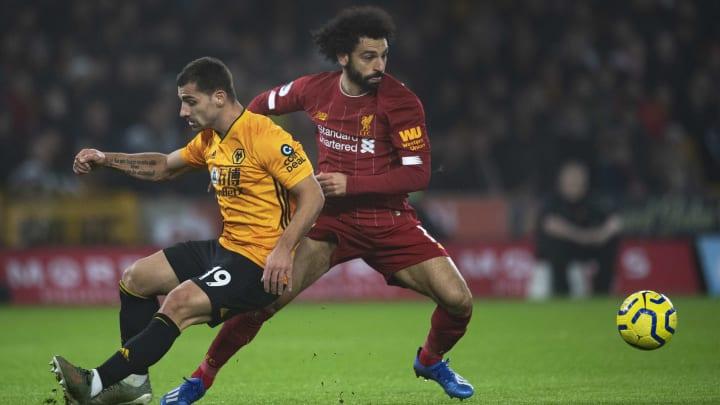 Wolverhampton e Liverpool se enfrentam pela Premier League.