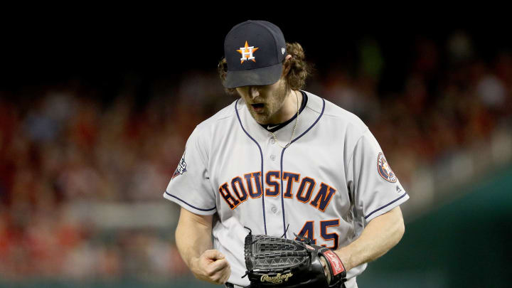 Former Astros ace Gerrit Cole signed a record-breaking contract with the New York Yankees Tuesday.