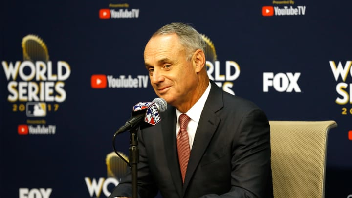 Major League Baseball Commissioner Rob Manfred at the World Series
