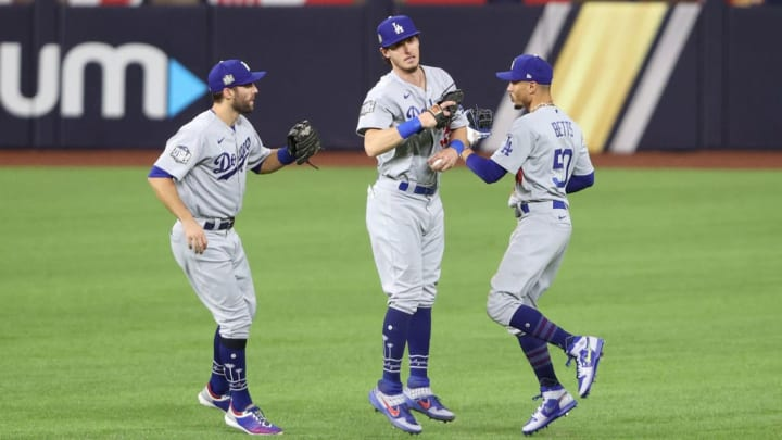 Mookie Betts, Chris Taylor et Cody Bellinger