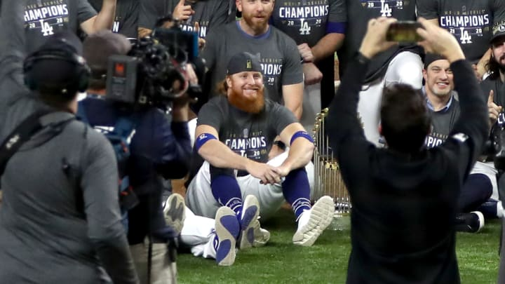 Justin Turner, World Series - Tampa Bay Rays v Los Angeles Dodgers  - Game Six