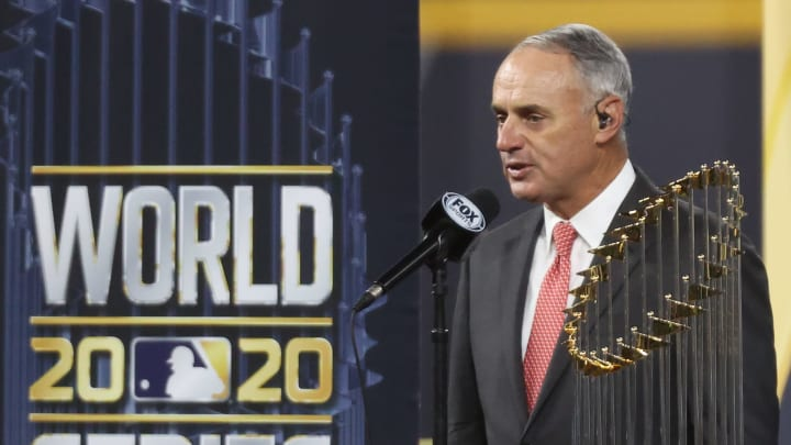 Rob Manfred, World Series - Tampa Bay Rays v Los Angeles Dodgers  - Game Six