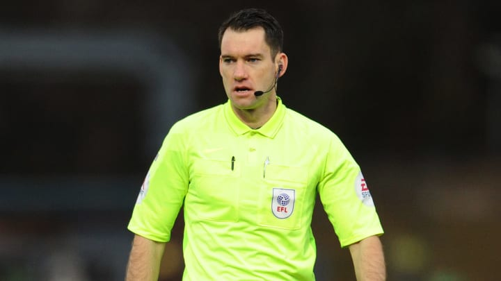 Jarred Gillet moved to England from Australia and has been an EFL referee since 2019