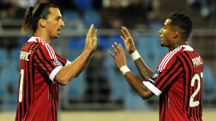 Zlatan Ibrahimovic (L) and Kevin-Prince