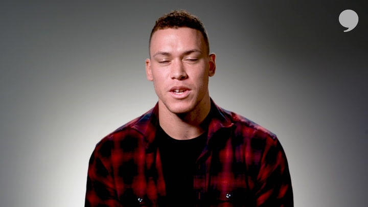 Aaron Judge discusses his support for a new norm that helps to delete negativity online.