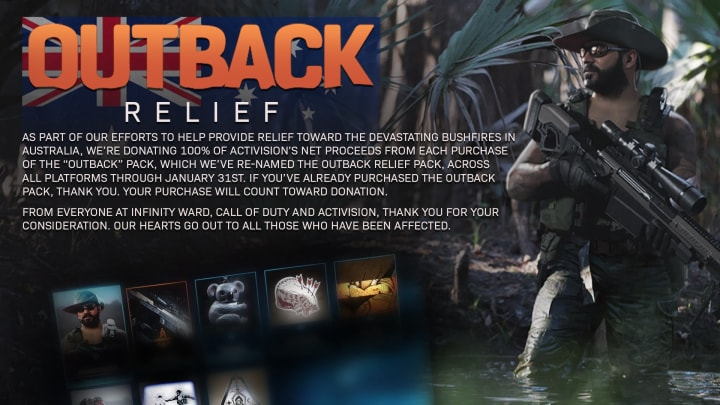 Call of Duty's Outback Relief pack will raise money for Australian wildfire relief
