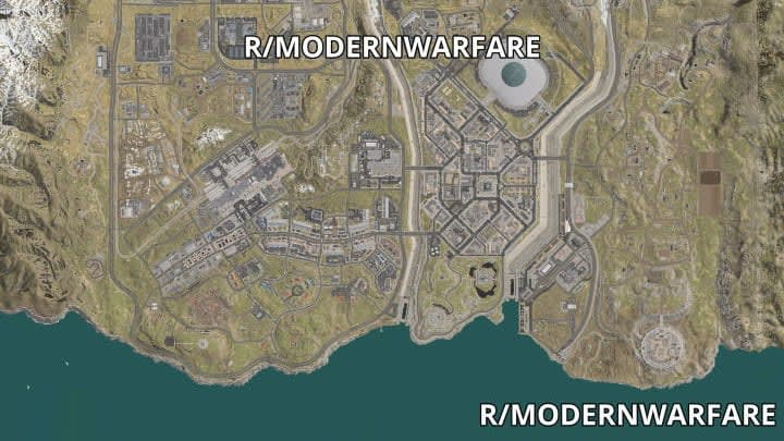 The south half of the map | Infinity Ward/Activision, via u/Senescallo