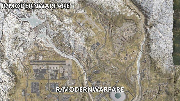 The north half of the map | Infinity Ward/Activision, via u/Senescallo