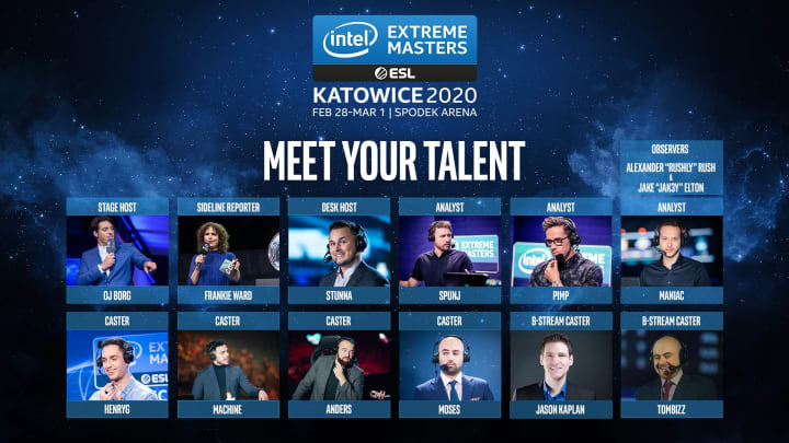 The IEM Katowice 2020 talent includes Frankie, SPUNJ, HenryG and more