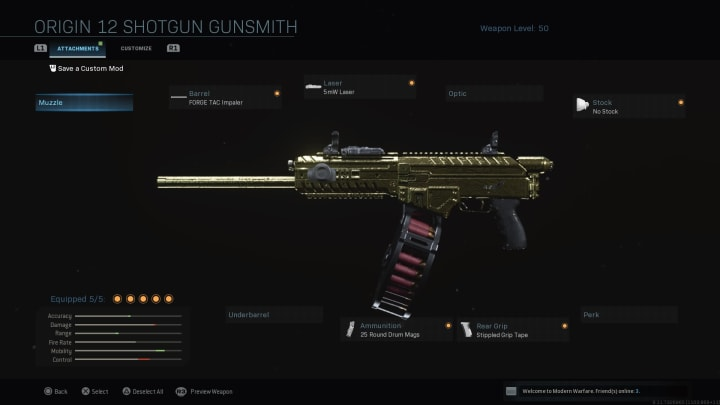 The Origin 12 much like the R9-0 is a great, quick semi-auto Shotgun capable of putting enemies down fast.