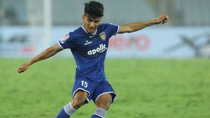 Anirudh Thapa in action for Chennaiyin FC