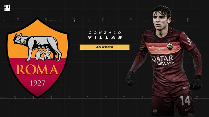 Gonzalo Villar con la maglia dell'AS Roma