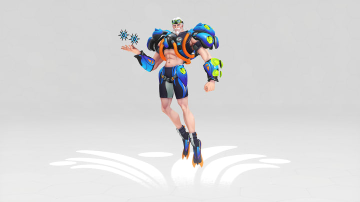 Scuba Sigma is one of eight skins newly available during the annual Overwatch Summer Games event this year.
