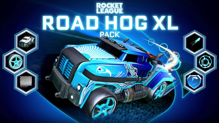 Road Hog XL Starter Pack, available now in the Rocket League item shop
