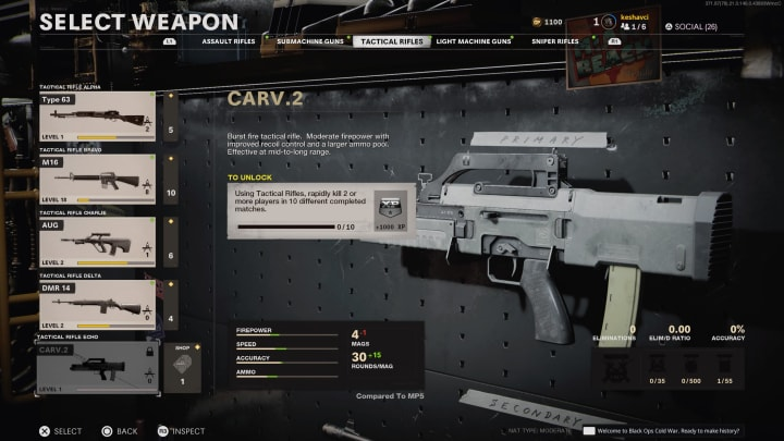 Call of Duty Weapon: Carv.2