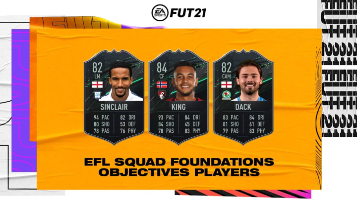 FUT 21 EFL Squad Foundations Cards