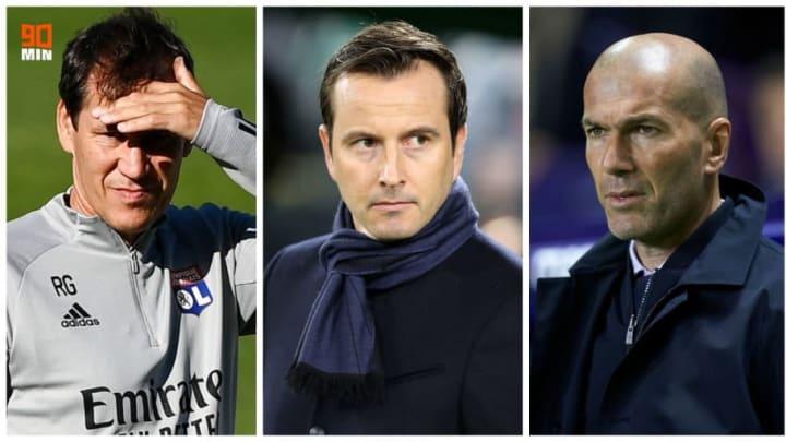 Rudi Garcia, Julien Stephan ey Zinedine Zidane.