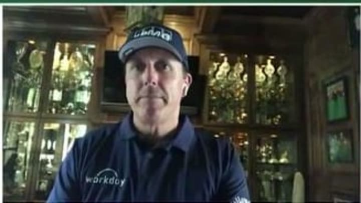 Phil Mickelson trophy room.