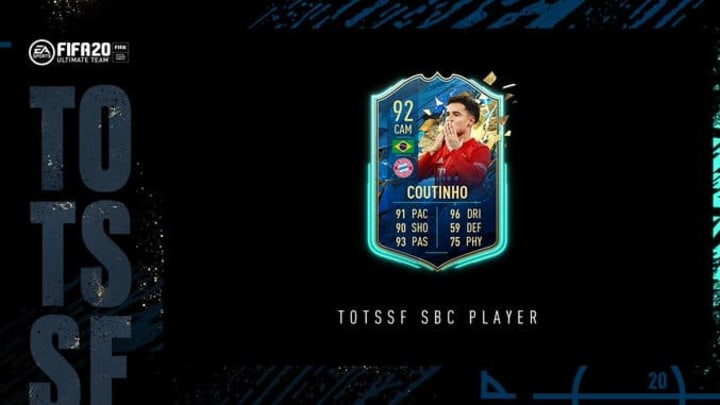 Philippe Coutinho received a FIFA 20 TOTSSF card on Sunday for the Bundesliga.
