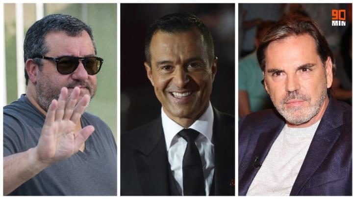 Mino Raiola, Jorge Mendes et Volker Struth.