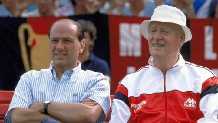 Silvio Berlusconi e Nils Liedholm