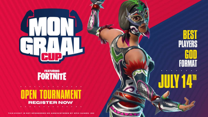 The God format Mongraal Cup featuring Fortnite by Epic Games is open for registration now.