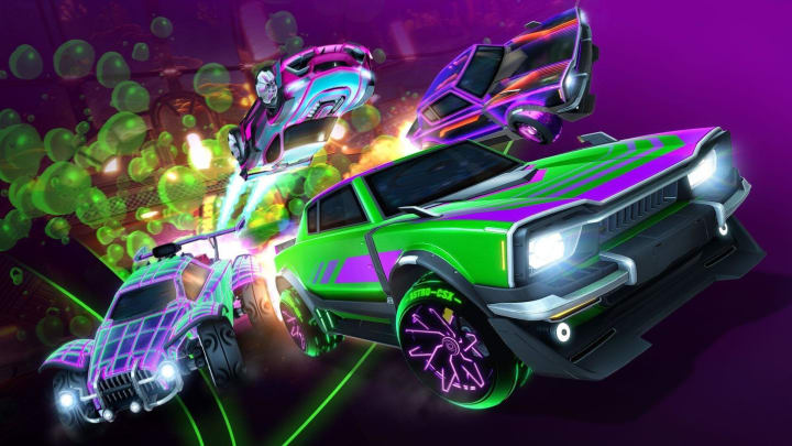 Rocket League's Newest Auriga Item Series. Dingo pictured in front.