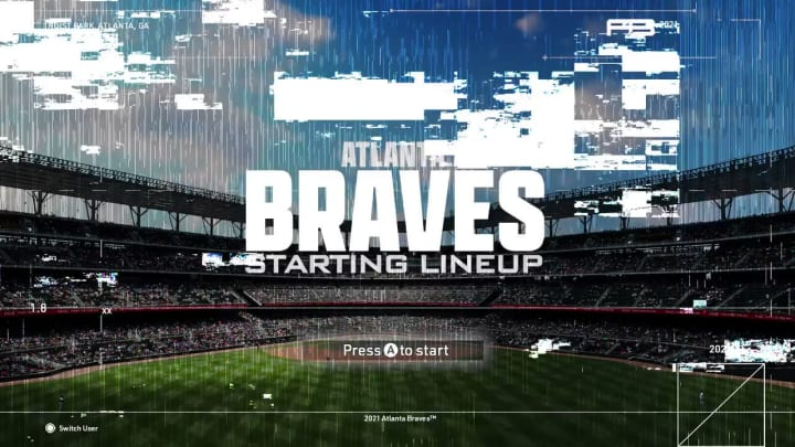 The Atlanta Braves used Warzone's aesthetic to announce the starting lineup for MLB opening day.