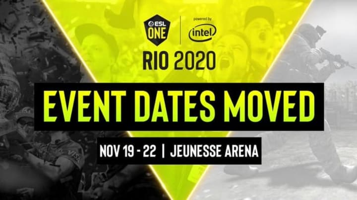 The ESL Rio Major has been rescheduled to November.