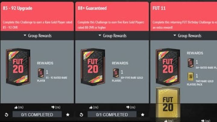 EA Sports released multiple upgrade SBCs in FIFA 20.